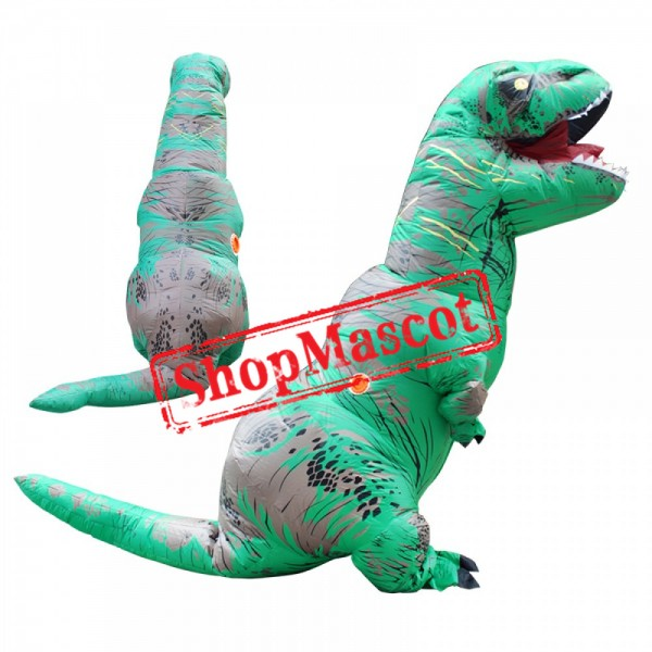 Funny Inflatable Blow Up T Rex Dinosaur Costumes Suit For Adults & Kids