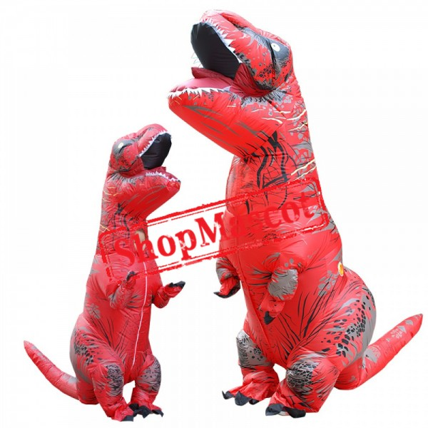 Inflatable Blow Up Dinosaur Suit T Rex Costume Halloween Costumes
