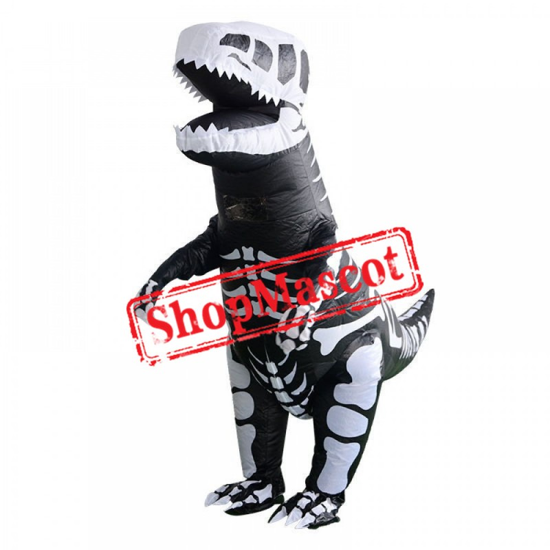 Inflatable Skeleton Dinosaur T Rex Halloween Costumes For Adults & Kids