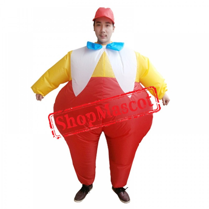 Fat Brother Inflatable Costume Blow Up Costumes Halloween Funny Suit