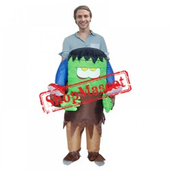 Inflatable Costume Blow Up Frankenstein Costume Halloween Fun Suit