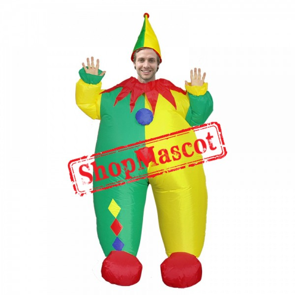 Inflatable Costume Blow Up Clown Costume Halloween Fun Suit