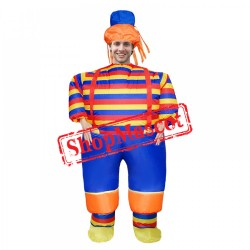 Inflatable Blow Up Clown Costume Suit Halloween Funny Costumes