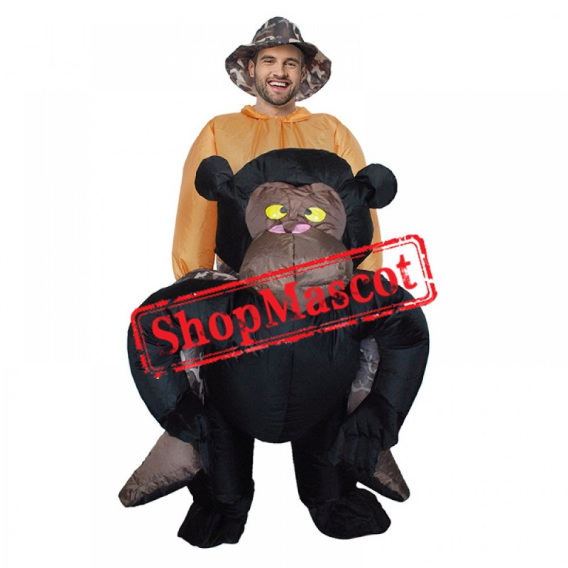 Inflatable Blow Up Gorilla Halloween Costume Suit For Adult