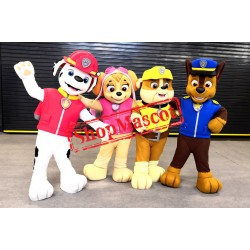 Paw Patrol - CHASE, MARSHALL, RUBBLE & SKYE Mascot Costumes