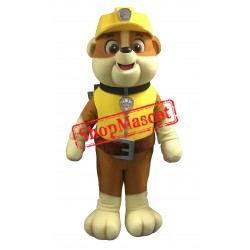 Top Quality Paw Patrol Rubble Mascot Costume