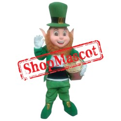 Friendly Irish Leprechaun Mascot Costume