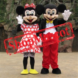 Disney Minnie Mickey Mouse Mascot Costume