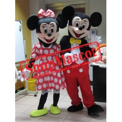 Cheap Mickey and Minnie Mascot Costume