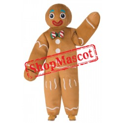 Cheap Gingerbread Man Mascot Costume