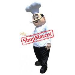 Happy Lightweight Chef Mascot Costume