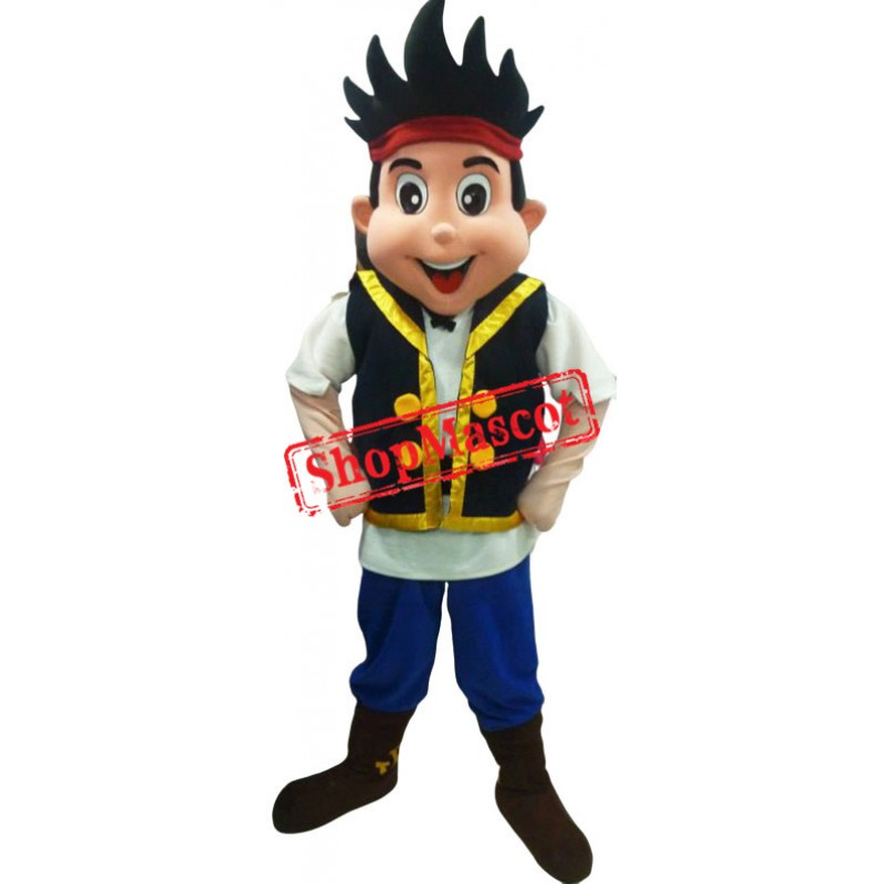 Jake Neverland Pirate Mascot Costume