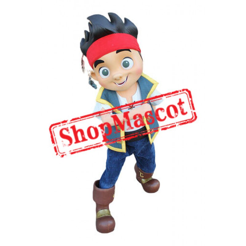 Best Quality Jake Neverland Pirate Mascot Costume