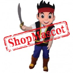 New Jake the Neverland Pirate Mascot Costume