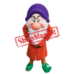 High Quality Grumpy Dwarf Mascot Costume
