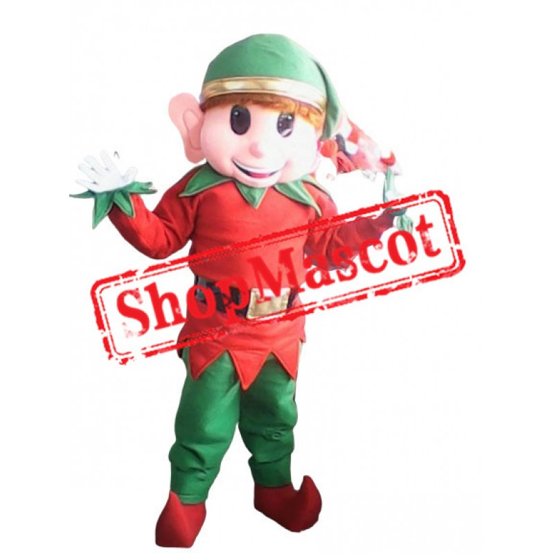 Elf Mascot Costume Adult Christmas Elf Costume