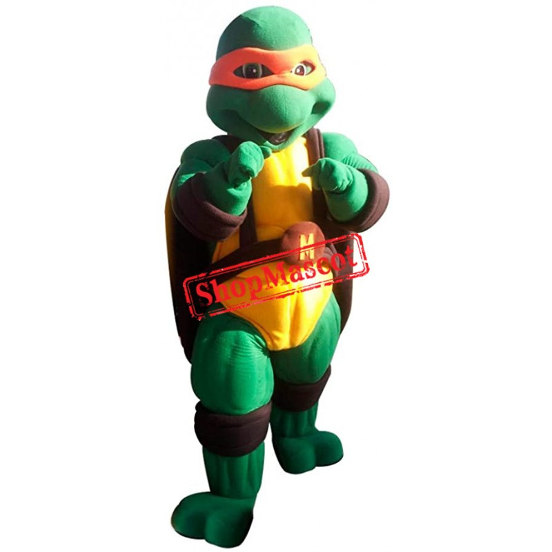 High Quality Orange Ninja Turtle Mascot Costume