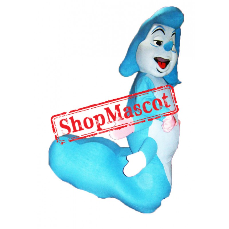 Blue Caterpillar Mascot Costume
