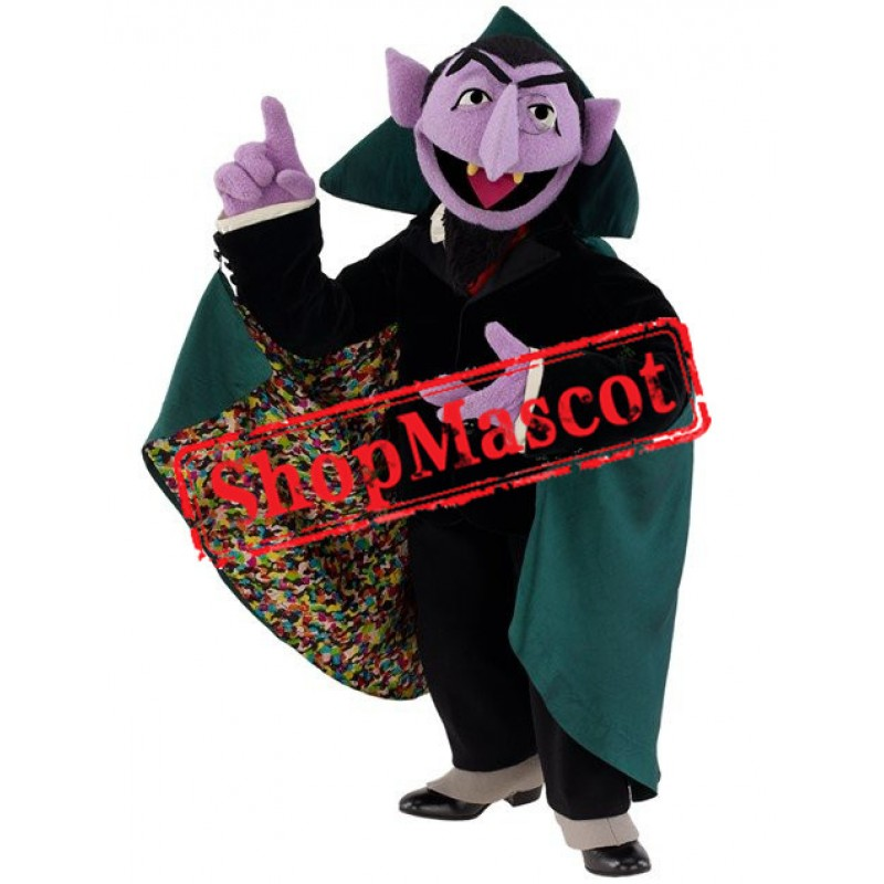Sesame Street the Count Von Vampire Mascot Costume