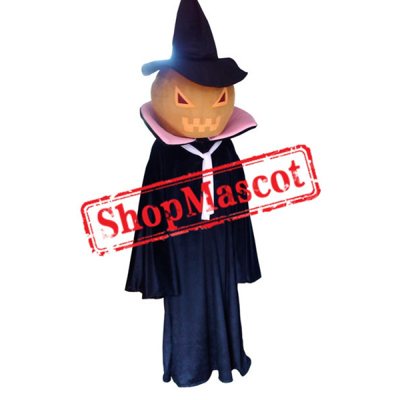 Halloween Pumpkin Ghost Spirit Mascot Costume