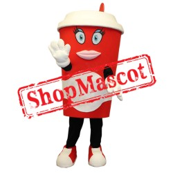 Beautiful Coffee Cup Mascot Costume