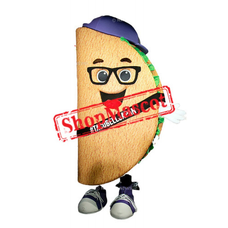 Happy Lightweight Taco Mascot Costume