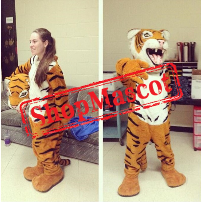 High Quality Realistic Tiger Mascot Costume
