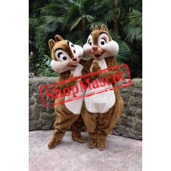 Chip & Dale Chipmunk Mascot Costume