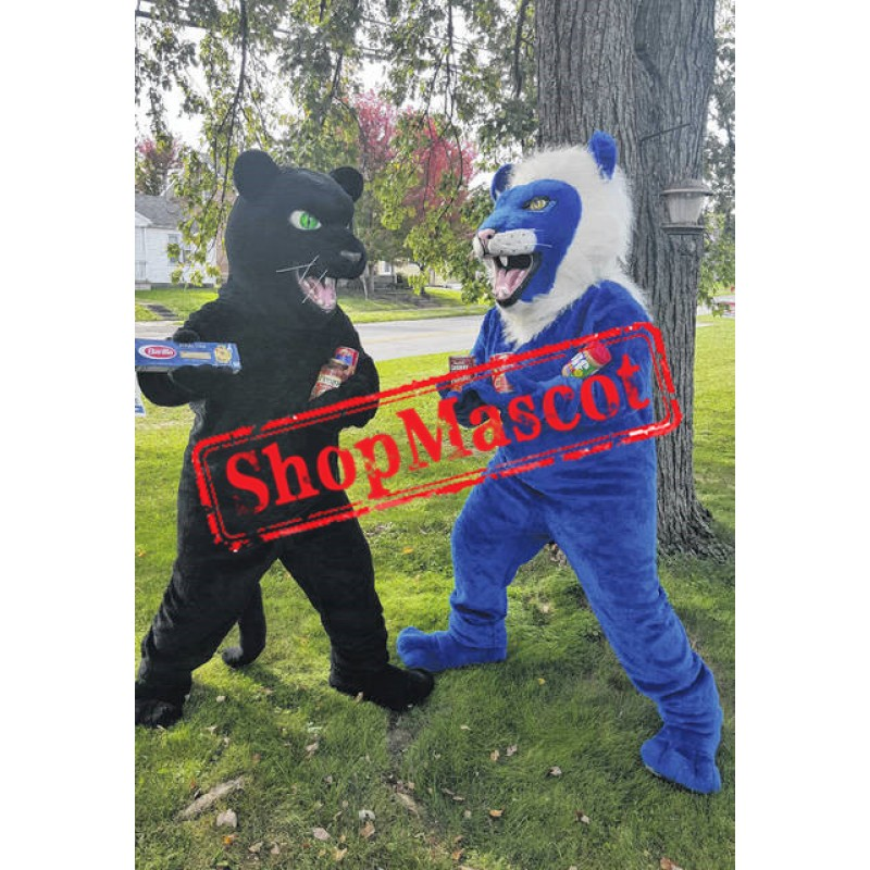 Best Quality Blue Lion Mascot Costume