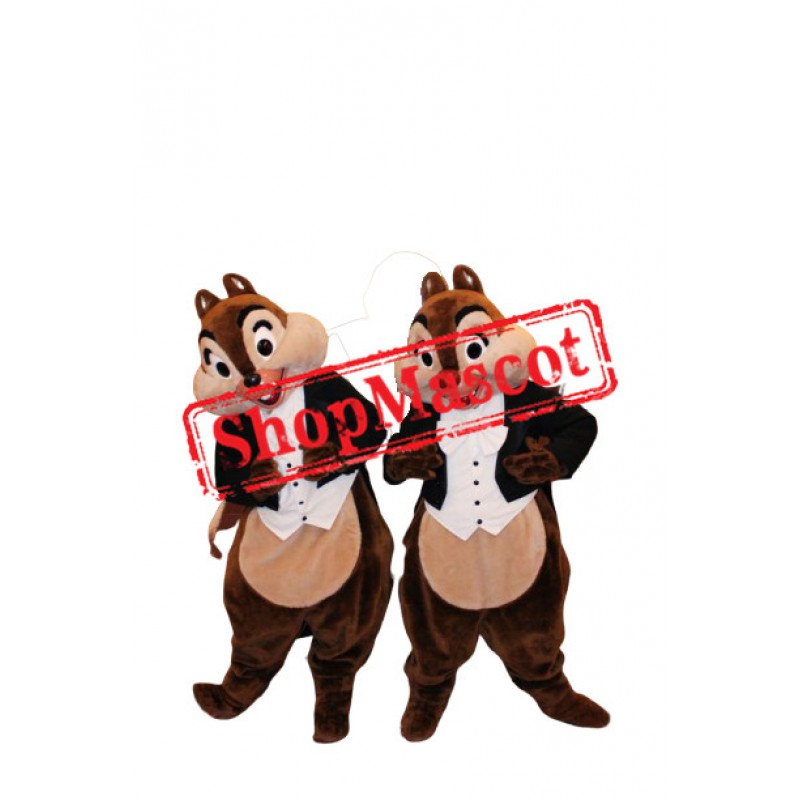 Handsome Chip & Dale Chipmunk Mascot Costume