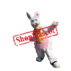 Super Cute White Easter Bunny Mascot Costume