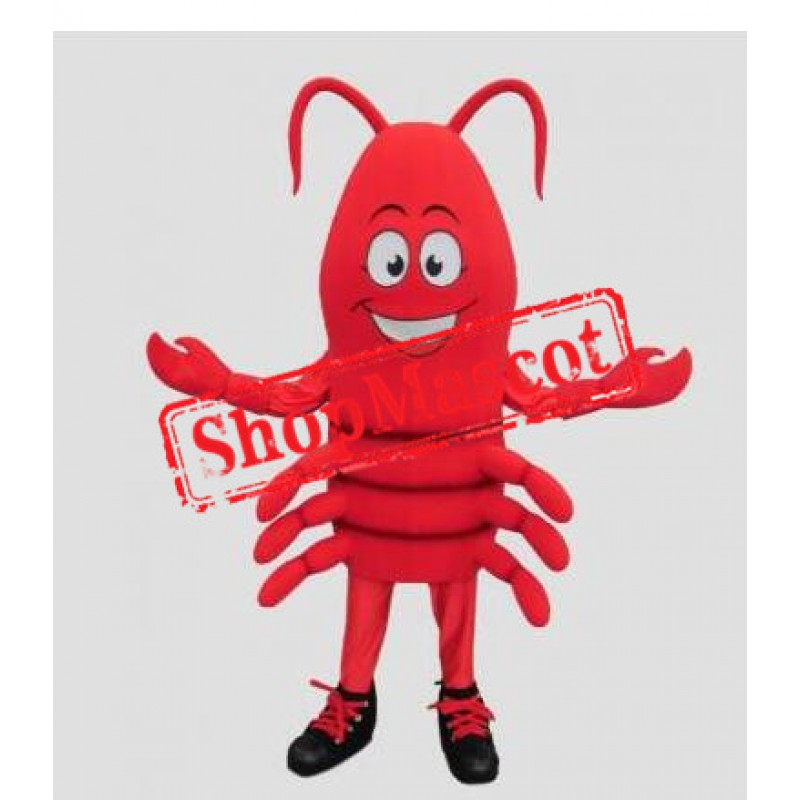 Happy Lightweight Crawfish Mascot Costume