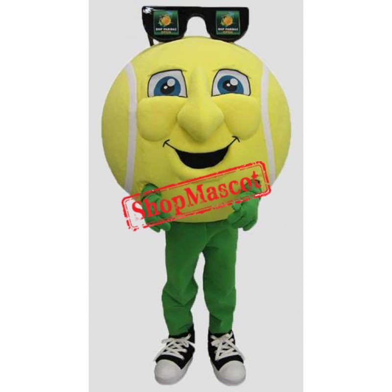 Happy Tennis Ball Mascot Costume