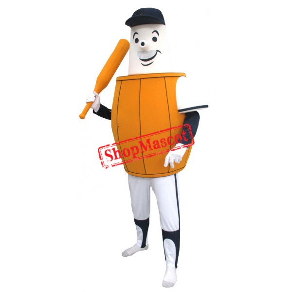 Sport Barrel Man Mascot Costume