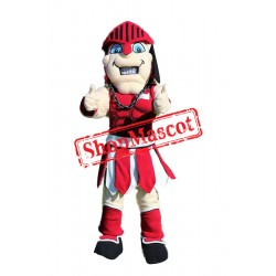Red Spartan Knight Mascot Costume