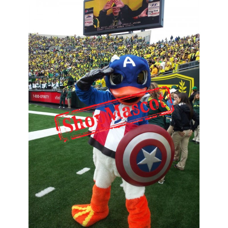 Captain America Duck Mascot Costume