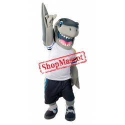 College Sport Shark Mascot Costume