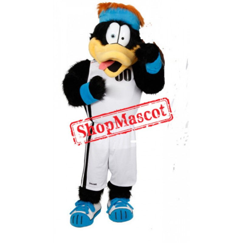 Sport Black Duck Mascot Costume