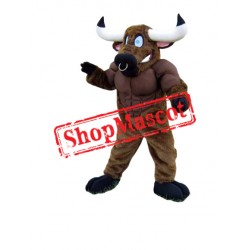 Power Muscular Buffalo Mascot Costume