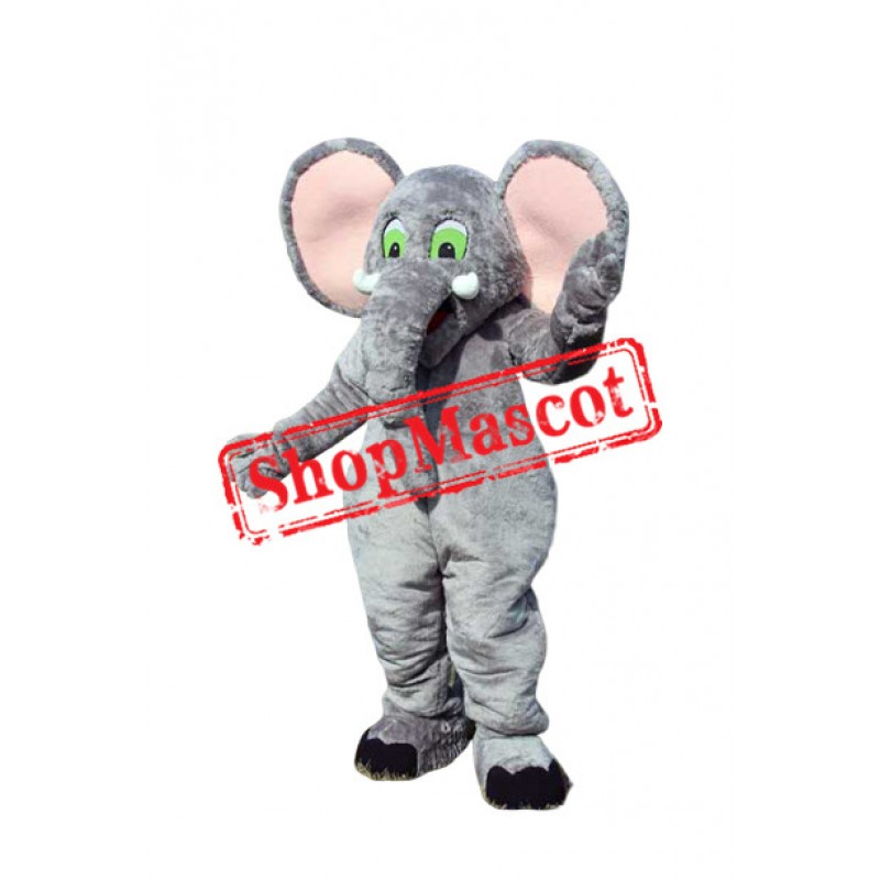 Pink Ear Elephant Mascot Costume