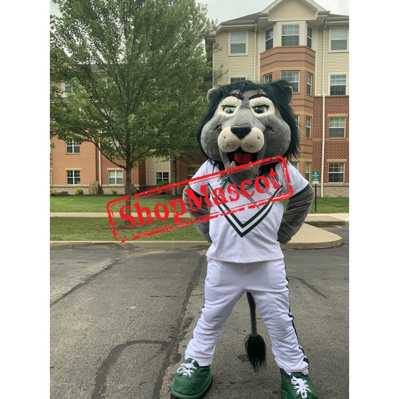 College Green Lion Mascot Costume