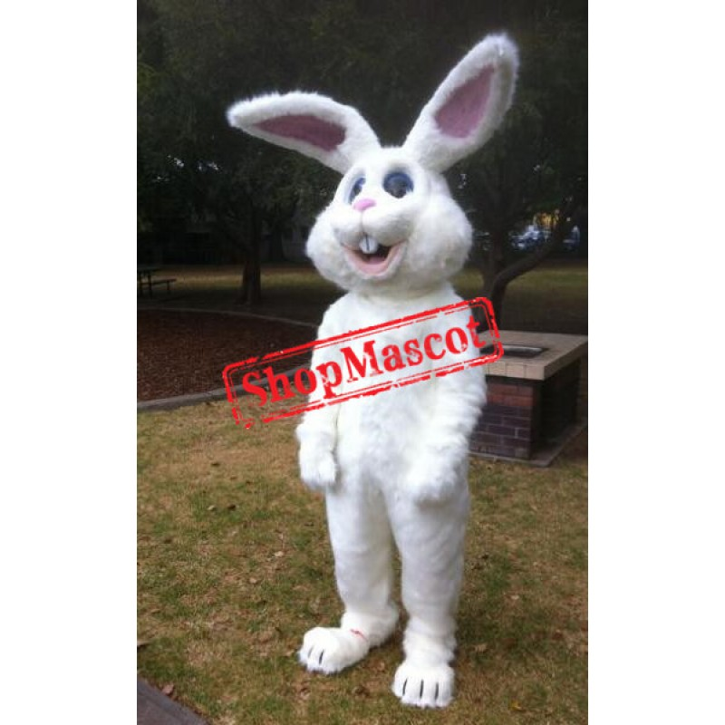 All White Bunny Mascot Costume
