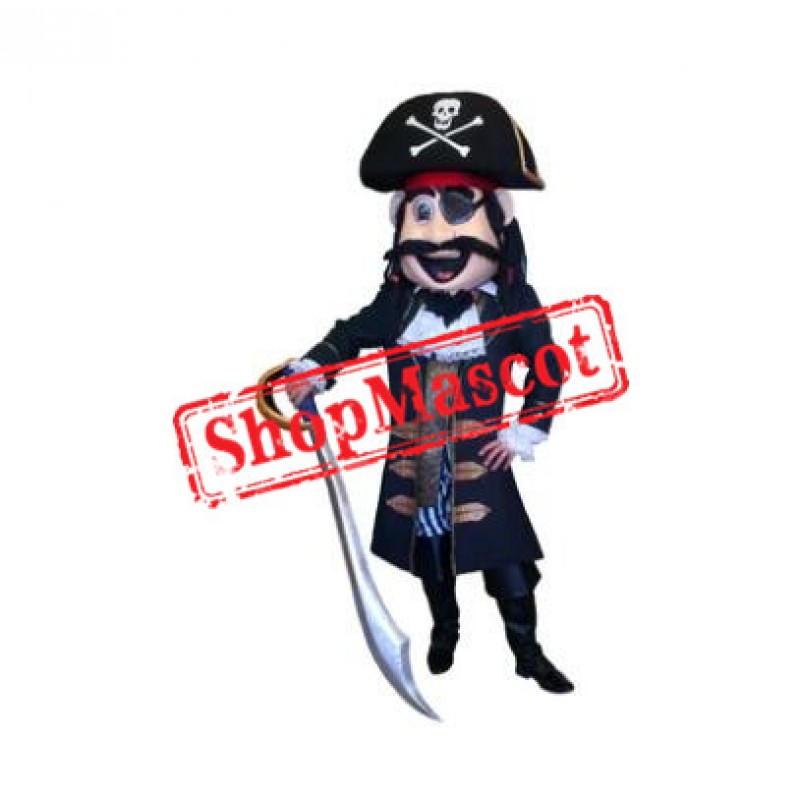High Quality Pirate Captain Mascot Costume