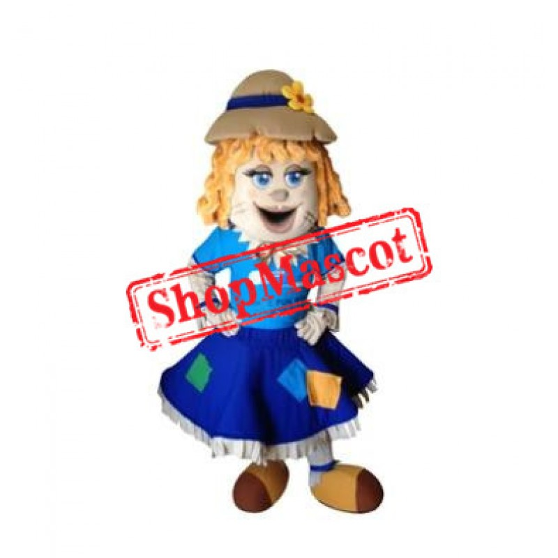 Female Scarecrow Mascot Costume