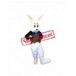 Smiling White Rabbit Mascot Costume