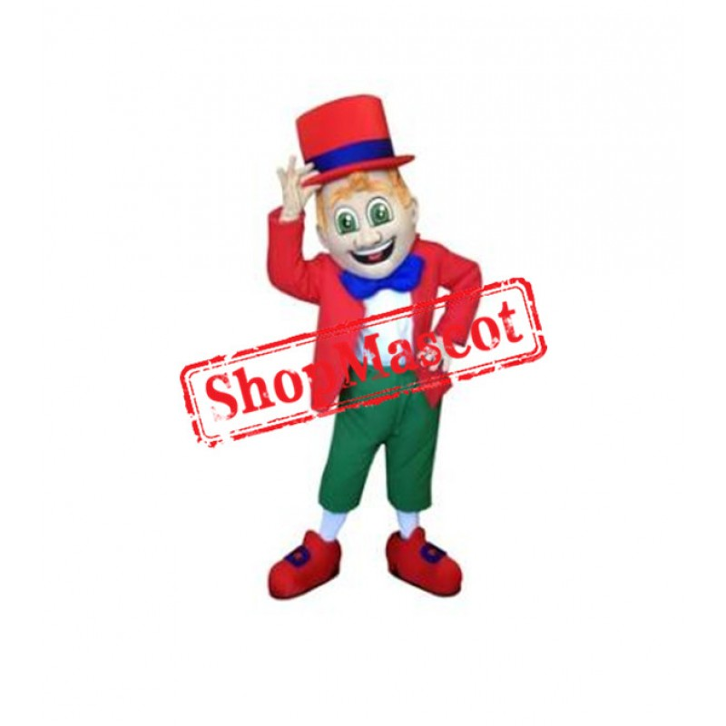 Red Leprechaun Mascot Costume