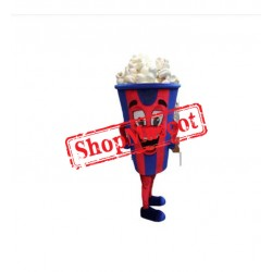 Happy Popcorn Mascot Costume