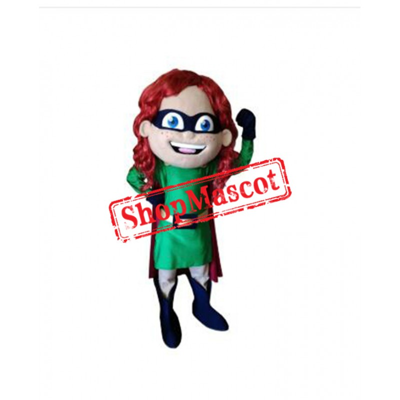 High Quality Super Girl Mascot Costume