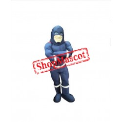 Blue Super Hero Mascot Costume