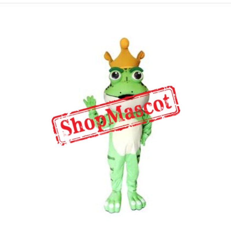 Super Cute King Frog Mascot Costume